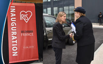 Inauguration du site de production et de distribution IRIS OHYAMA à Lieussaint