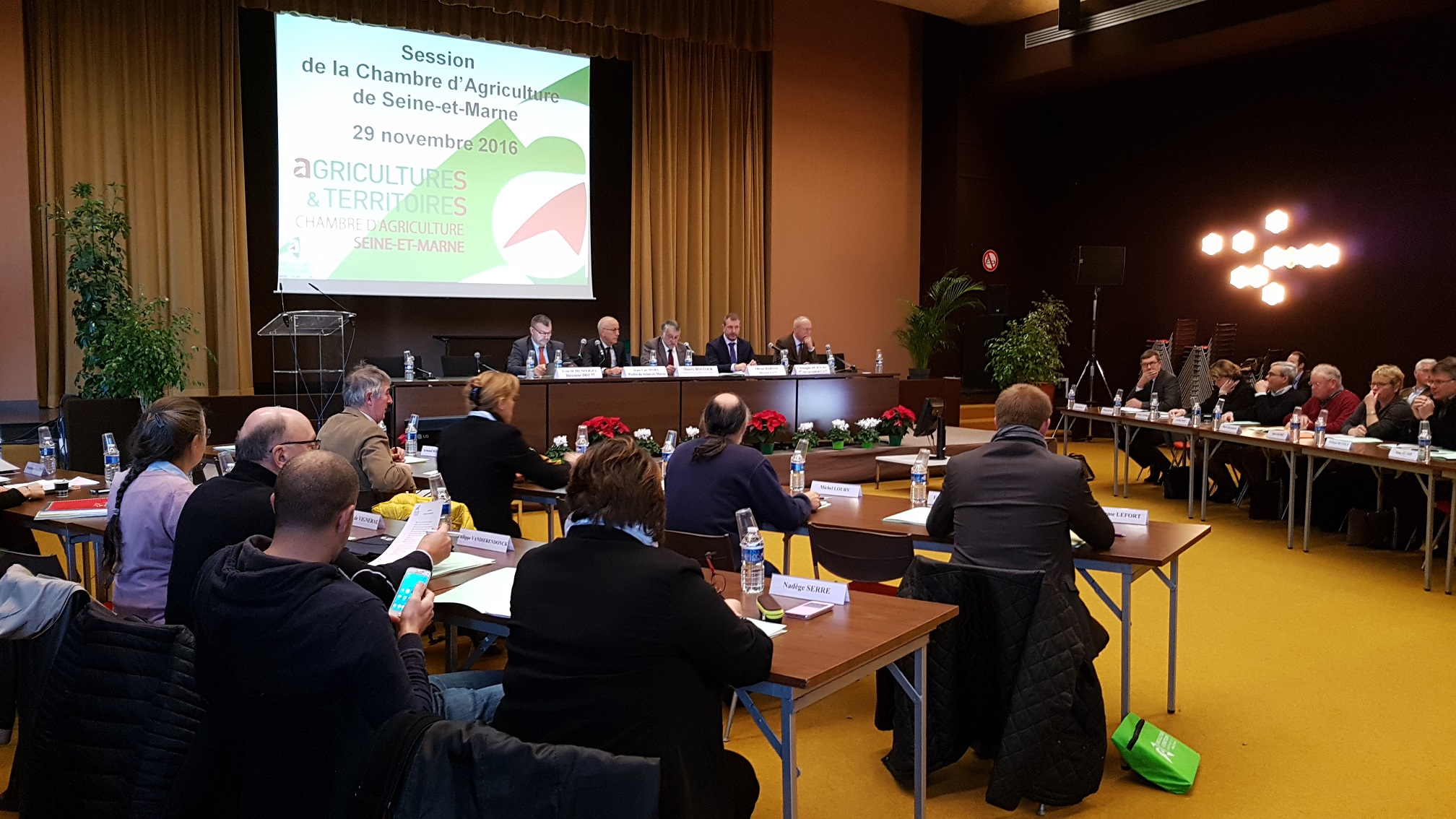 Session de fin d 39 ann e de la chambre d partementale d for Chambre d agriculture